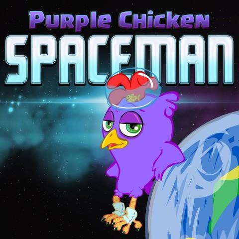 Purple Chicken Spaceman Art